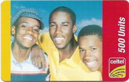 Sierra Leone - Celtel - 3 Boys, GSM Refill 500Units, Used - Sierra Leone