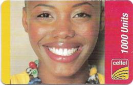 Sierra Leone - Celtel - Smiling Girl, GSM Refill 1000Units, Used - Sierra Leone
