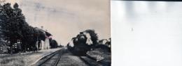 STE -LIVRADE-sur-LOT:Superbe Carte Sur Support Cartonné 14x9 Cm,la Gare,vers 1920 Ligne Tonneins-Villeneuve-sur Lot - Gares - Avec Trains