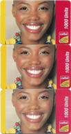 Sierra Leone - Celtel - Smiling Girl, GSM Refill 1000Units, (3 Backside Variations), Used - Sierra Leone