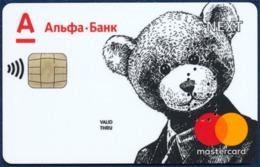 RUSSIA - RUSSIE - RUSSLAND ALFA BANK SAMPLE MASTERCARD BANK CARD TEDDY BEAR - Andere Sammlungen