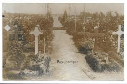 BEAUCAMPS-Cimetiere Militaire Allemand-CARTE PHOTO Allemande-Guerre 14-18-1 WK-France-59 - Lomme