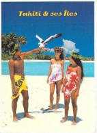 Polynésie Française- Jeunes Polynésiens En Paréo (torse Nu -vahinés) TAHITI Et Ses îles   (A.Sylvain  957)@*PRIX  FIXE - Polynésie Française