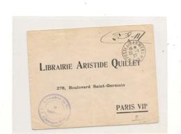 FRANCE 1927 F.M. POSTE AUX ARMÉES POUR PARIS DU 22/07/27 - 1921-1960: Modern Tijdperk
