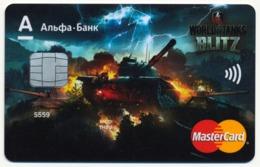 RUSSIA - RUSSIE - RUSSLAND ALFA BANK SAMPLE MASTERCARD BANK CARD WORLD OF TANKS BLITZ - Andere Sammlungen