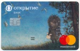 RUSSIA - RUSSIE - RUSSLAND OTKRITIE BANK SAMPLE MASTERCARD BANK CARD CARTOON - HEDGEHOG IN THE FOG - Andere Sammlungen