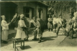 LIBYA - SCENES ET TYPES -  CHEZ DES SPAHIS - LA FORGE -  EDIT LL 1910s (5533) - Libia