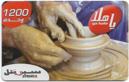 Syria - Syriatel - Pottery, GSM Refill 1.200Units, Exp.31.12.2010, Used - Siria