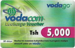 Tanzania - Vodacom - Recharge Voucher (Green Back) - GSM Refill 5.000Tsh, Exp.10.12.2006, Used - Tanzania