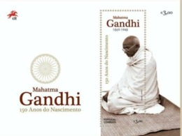 Portugal Gandhi 150th Anniversary Of Mahatma Gandhi Silk MS Sheet MNH - Mahatma Gandhi