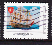 FRANCE COLLECTOR MONTIMBRAMOI Ordre De Malte Bateau 3 Mats Oblitéré - Personalizzati (MonTimbraMoi)