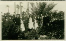 AFRICA - LIBYA - MISURATA / Misrata - NELL'OASI CON UN CAPO TRIBU' BEN .... - RPPC POSTCARD 1938 (5536) - Libia
