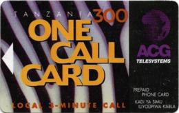 Tanzania - Adesemi - One Call Card, Abstract Design, Magnetic Prepaid 300Tsh, Used - Tanzania