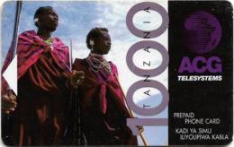 Tanzania - Adesemi - Two Native Tanzanians, Magnetic Prepaid 1.000Tsh, Used - Tanzania