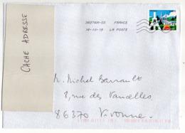 """2019--timbre """" LE CREUSOT """" ....  Seul Sur Lettre Format   C4 - Poststempel (Briefe)"""
