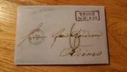 Brief Mit Inhalt Joh. Mich. Schwartz Thorn 1862 Nach Reims - Prussia
