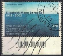 Allemagne 2018 Oblitéré Used Elisabeth Mann Borgese Défense Des Océans Environnement SU - BRD