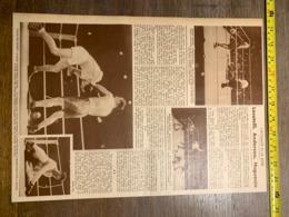 1932 1933 M BOXE BOXEUR CLETO LOCATELLI ANDERSON HUGUENIN TARANTE SCHAEFFER JOHNNY CUTHBERT MAC DONALD GRISELLE - Vieux Papiers