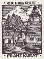 Ex Libris Franz Kubat - Otto Feil - Ex-libris
