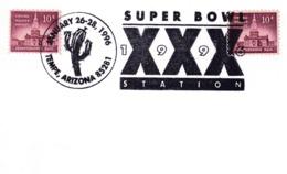 USA 1996 Card; Flora Cactus Kaktus; Football Super Bowl; Tempe Arizona - Pflanzen Und Botanik