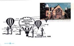 USA 1996 Postal Stationery Card; Flora Cactus Kaktus; Tunderbird Balloon Balon; Alexandre Hall Kentucky Univercity - Pflanzen Und Botanik