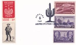 USA 1994 Card; Flora Cactus Kaktus; Aripex Station; - Pflanzen Und Botanik