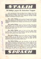 "WWII WW2 Flugblatt Leaflet Листовка Soviet Propaganda Against Germany ""STALIN SPRACH"" CODE 1089 10.11.44             (2) - 1939-45"