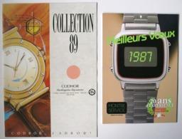 HORLOGERIE MONTRES - Publicité CODHOR 1989 + Calendrier Montres 1987 *** Voir 2 Scans ** /P20 - Reclame