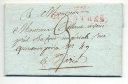 Chartres 1812 Nach Paris, Brief Mit Inhalt - Poststempel (Briefe)