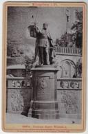 Germany Russia 1897 Cabinet Portrait Photo Sculpture Monument Kaiser Wilhelm I Königsberg Kaliningrad Rommler Jonas Edit - Russia