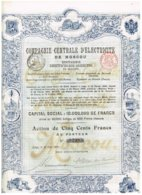 Titre Ancien - Compagnie Centrale D'Electricité De Moscou - Titre De 1899 - Russland