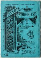 Dessins De Broderies N°654 SAJOU Paris (médaille Argent Expo Univ.1889) 10x14 Cm (tableau Déplié 72cm) TBE/ 3 Scans/P168 - Publicité