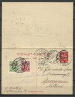 Estland Estonia 1928 Postal Stationery Ganzsache With Response Part Used To Netherlands Broningen - Estland
