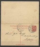 Estland Estonia 1924 Postal Stationery Ganzsache With Response Part Used To Germany Leipzig - Estland