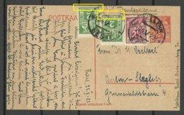 Estland Estonia 1923 Postal Stationery Ganzsache With Response Part Used To Germany Incl ERROR Abart - Estland