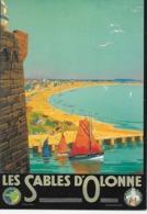 """CP- Chemin De Fer De L'État - LES SABLES D'OLONNE """"Artiste Pierre Commarmond"""" (1897-1983). - Advertising"""