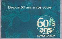 Carte Postale 2019 : 6o Ans De La Banque SOCREDO. Tirage 700 Ex. Prix : 3,50 € - Entiers Postaux