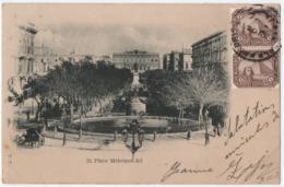 EGYPTE. ALEXANDRIE Sur UN MILLIEME X 2 Sur C.P PLACE MEHEMET-ALI. 1904. - Égypte