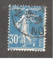 Perfin/perforé/lochung France No 192 SM Sté Métallurgique Senelle - Frankreich
