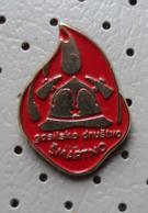 Fireman / Firefighter Helmet Fire Brigade GD Smartno Slovenia Pin - Brandweerman