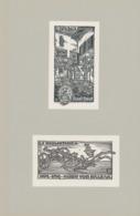 Ex Libris Karl Bock + Ex Bibliotheca Hugo Von Balzar - Otto Feil - Ex-libris