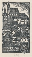 Ex Libris Ludwig Und Grete Spindelberger - Otto Feil Gesigneerd - Ex-libris