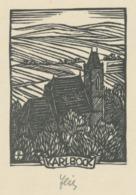 Ex Libris Karl Bock - Otto Feil Gesigneerd - Ex-libris