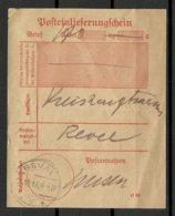Estland Estonia 1918 German Occupation WW I Posteinlieferungschein Reval - Estland