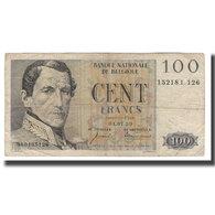 Billet, Belgique, 100 Francs, 1952-1959, 1959-07-01, KM:129c, B+ - [ 2] 1831-... : Regno Del Belgio