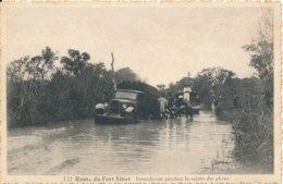 Cameroun Route Du Fort Sibut Innondation Pendant La Saison Des Pluies édit Artiaga Silva & Co Bangui A. E. F. N° 132 - Camerún