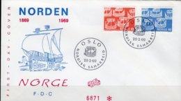 Nordland Gemeinschaft 1969 NORGE 579/0 FDC O 2€ Alte Schiffe CEPT Mitläufer Historische Gogge Ships Cover Of EUROPA - FDC