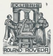 Ex Libris Roland Roveda - Hans Hauke - Ex-libris