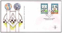 Aruba 1996 FDC 64 Solidarity Freemason Vrijmetselaar - Curaçao, Nederlandse Antillen, Aruba