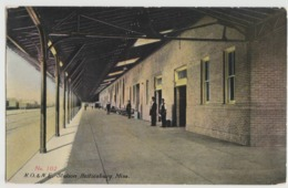 MS HATTIESBURG RR RAILROAD STATION Photo Postcard - Hattiesburg